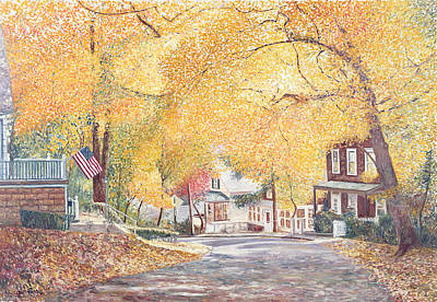 Suburbia Painting - Hillside Avenue Staten Island by Anthony Butera