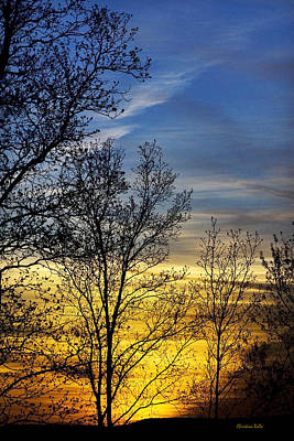 Spring Scenery Photograph - Hilltop Sunset by Christina Rollo