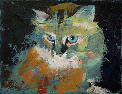 Chatting Painting - Himalayan Cat by Michael Creese