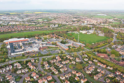 Birds Eye View Photograph - Hinchingbrooke Hospital by Tom Gowanlock