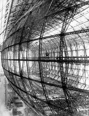 Hindenburg Construction Print by Underwood Archives