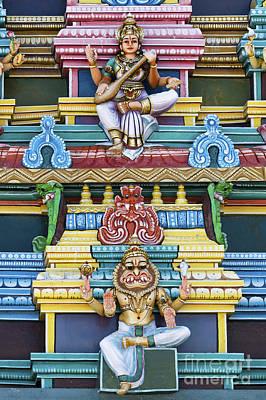 Hindu Goddess Photograph - Hindu Temple Deity Statues by Tim Gainey