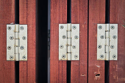 Screen Doors Photograph - Hinges by Tom Gowanlock