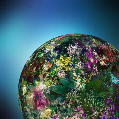 Hippies' Planet 2 Print by Klara Acel