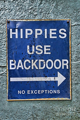 Hippies Use Back Door In Full Color Print by Paul Ward