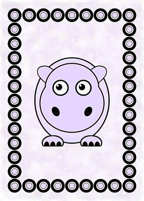 Hippopotamus Mixed Media - Hippo - Animals - Art For Kids by Anastasiya Malakhova