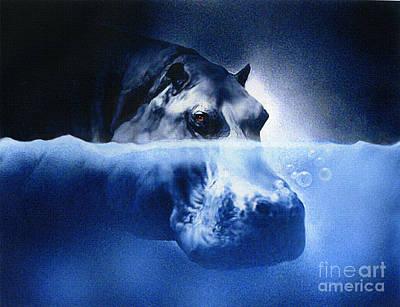 Hippopotamus Digital Art - Hippo by Robert Foster