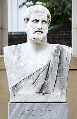 Hippocrates Statue - Vcu Campus Print by Brendan Reals