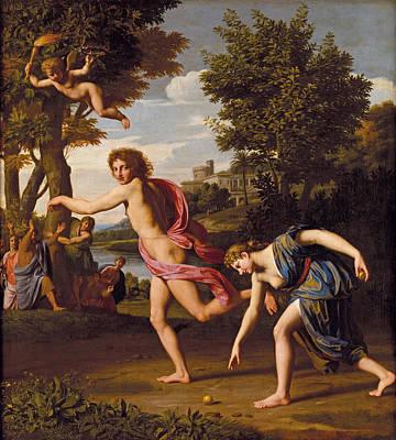 Atalanta And Hippomenes Painting - Hippomenes And Atalanta by Nicolas Colombel