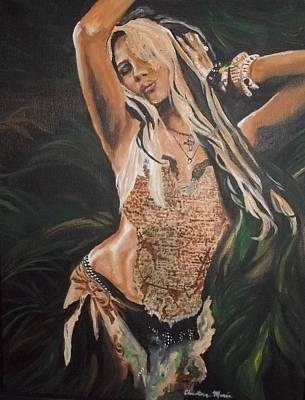 Shakira Painting - Hips Don't Lie by Christie Poole