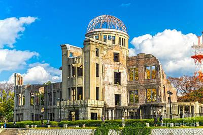 Hiroshima Atomic Bomb Dome - Japan Print by Luciano Mortula