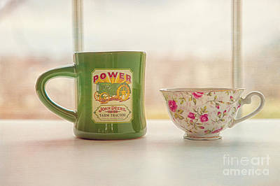 His And Her Coffee Cups Print by Kay Pickens