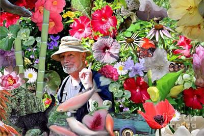 Goldfish Digital Art - His Garden by Erica Hanel