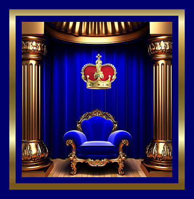 Throne Room Digital Art - His Majesty 2 by Karen Showell