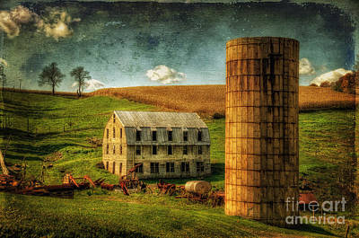 Old Barns Digital Art - His Pride And Joy by Lois Bryan