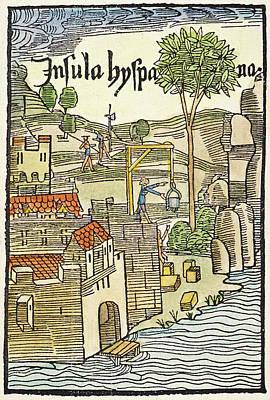 Logging Painting - Hispaniola Navidad, 1493 by Granger