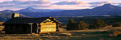 Historic Cabin At Ghost Ranch, Abiquiu Print by Panoramic Images