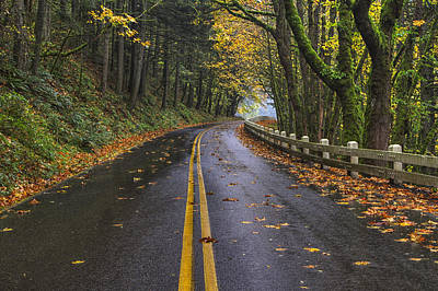 Historic Columbia River Highway Print by Mark Kiver