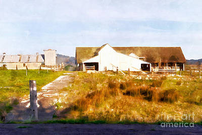 Historic D Ranch In Point Reyes California Dsc2399wc Print by Wingsdomain Art and Photography