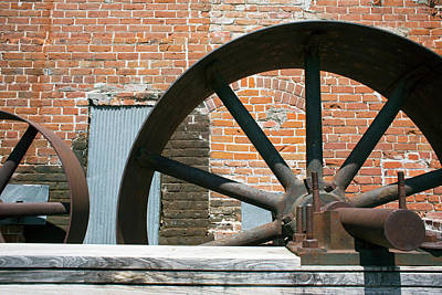 Historic Site Photograph - Historic Flour Mill Machinery by Jim West