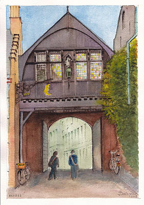 Historic Gate In Bruges Belgium Original by Dai Wynn