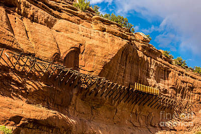 Historic Hanging Flume - Dolores River - Colorado Print by Gary Whitton