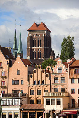 Danzig Photograph - Historic Houses In Gdansk by Artur Bogacki