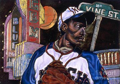 Baseball History Painting - Historic Kansas City by Anthony High
