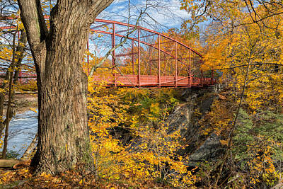 Litchfield County Landscape Photograph - Historic Lovers Leap Bridge by Bill Wakeley