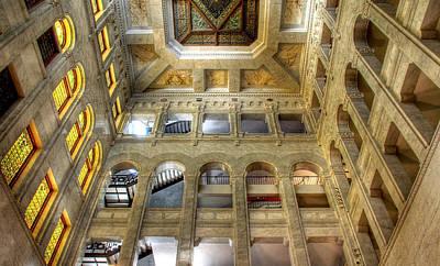 Historic Minneapolis City Hall And Courthouse Print by Wayne Moran