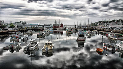 Historic Rockport Harbor Print by Stephen Stookey