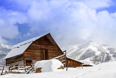 Historic Steamboat Springs Barn And Ski Area Print by Teri Virbickis