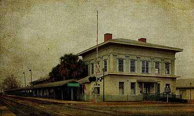 Southern Photograph - Historic Tallahassee Florida Train Station by Carla Parris