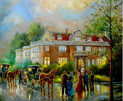 Historical Buildings Painting - Historical Architecture Indiana Baker House Mansion  by Gina Femrite