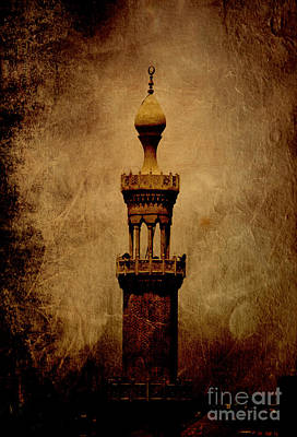 Cairo Mixed Media - Historical Minaret In Cairo by Mohamed Elkhamisy