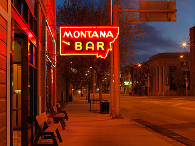 Historical Montana Bar Print by Leland D Howard