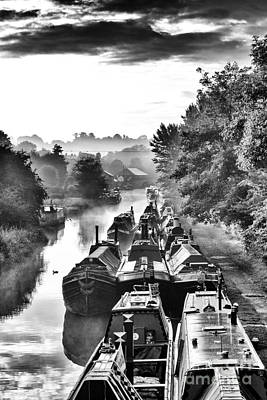Historical Narrowboats Print by Tim Gainey
