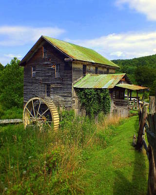 Historical Whites Mill Print by Karen Wiles