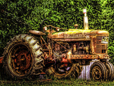 Tractor Photograph - History For Sale by Barry Jones
