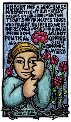 Oppression Mixed Media - History Has A Long Range Perspective by Ricardo Levins Morales