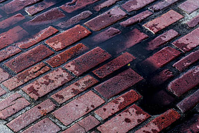 Rainy Day Photograph - Hit The Bricks by Andrew Pacheco