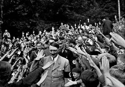 Nazi Party Photograph - Hitler Being Greeted by Underwood Archives