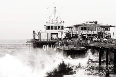 Brown Toned Art Photograph - Hitting The Santa Monica Pier by John Rizzuto
