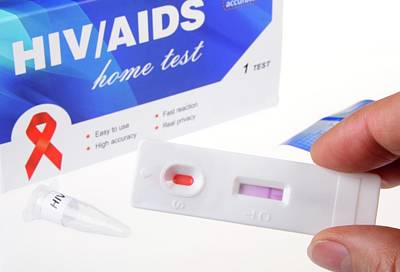 Viral Photograph - Hiv Home Blood Test by Cordelia Molloy