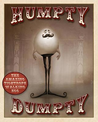 Circus Digital Art - Humpty Dumpty by Adam Ford