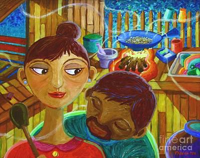 Filipino Painting - Hmmm... Amoy Pinipig by Paul Hilario