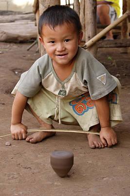 Village Photograph - Hmong Boy by Adam Romanowicz