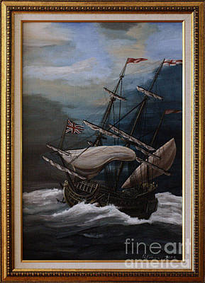 Hms Royal Prince 1670 Original by Richard John Holden RA