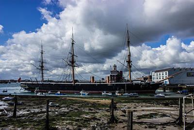 Hms Warrior Portsmouth Historic Docks Print by Martin Newman