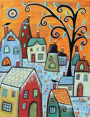 Winter Scenes Painting - Hoarfrost by Karla Gerard